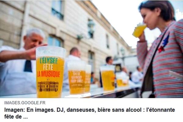 Bière Fête musique Élysée 2018