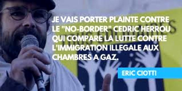 Éric Ciotti vs Cédric Herrou