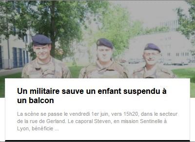 Militaire sauve enfant balcon