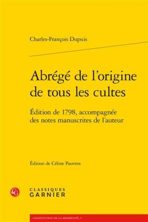 Origine tous les cultes Charles-François Dupuis