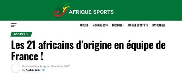Afrique Sports 21 Africains Équipe France