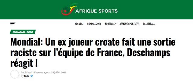 Afrique Sports Igor Stimac raciste