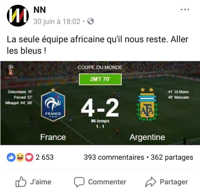 tweet Bleus équipe africaine