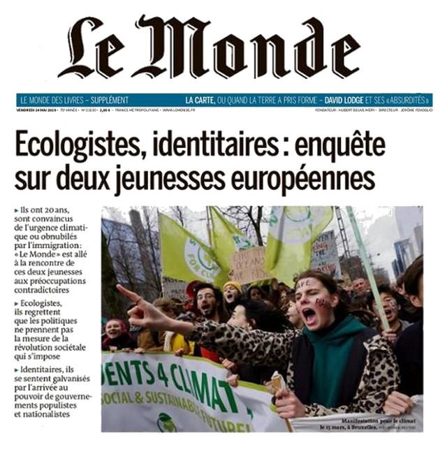 Le-Monde-24-mai-2019-Identitaires-Écologistes