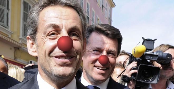 Christian-Estrosi_Nicolas-Sarkozy_clowns