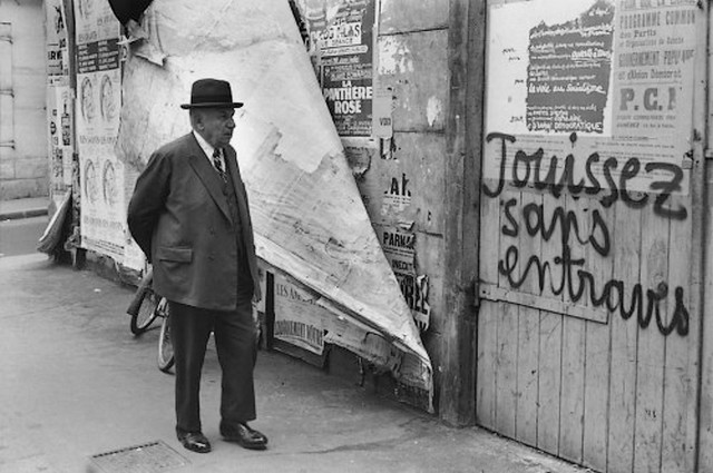 Jouissez sans entraves - Mai 68 - Henri Cartier-Bresson