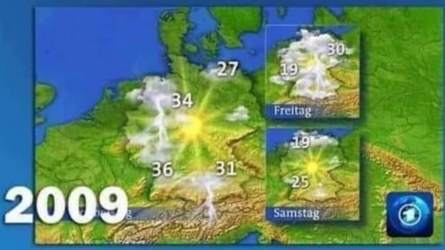 Météo Allemagne 2009