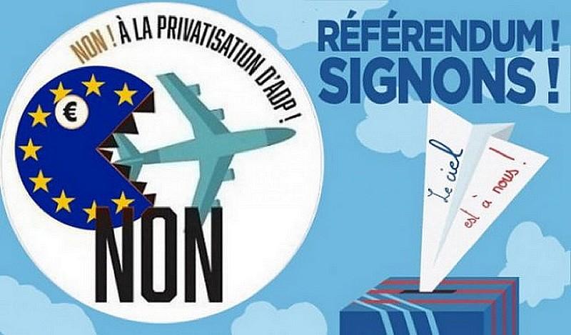 Référendum Non privatisation Aéroport Paris ADP