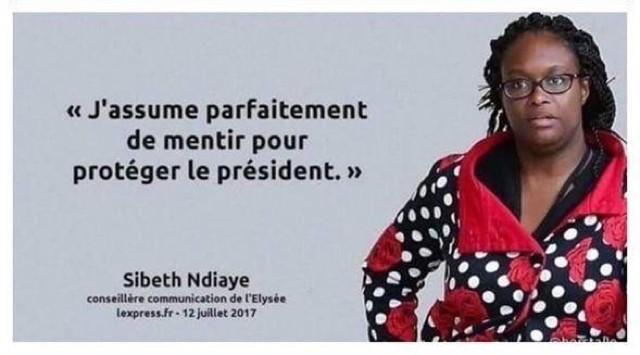 Sibeth-Ndiaye-mentir-protéger-Macron