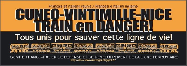 Train en danger Cuneo-Vintimille-Nice