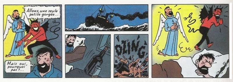 Capitaine Haddock ange démon