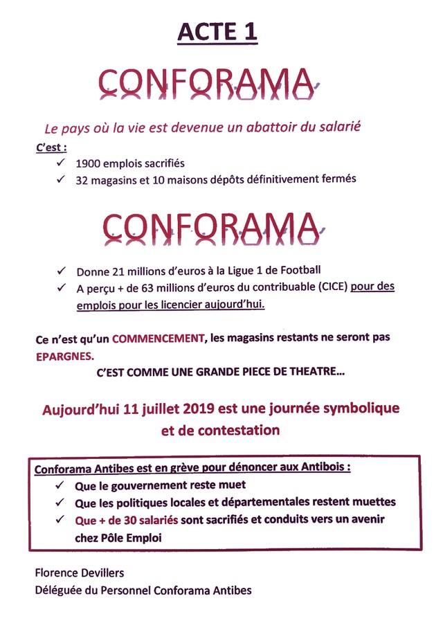 Conforama grève 11 juillet 2019 tract