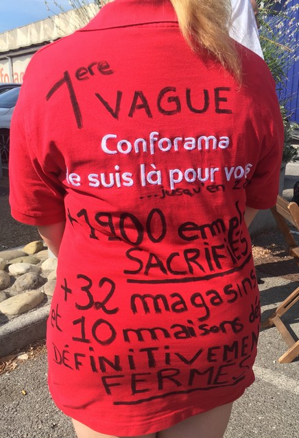 Conforama grève 11 juillet 2019