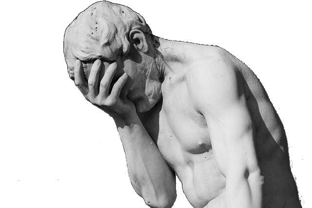 Désespoir statue