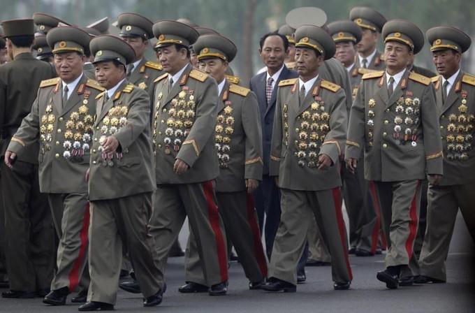 Généraux nord-coréens médailles