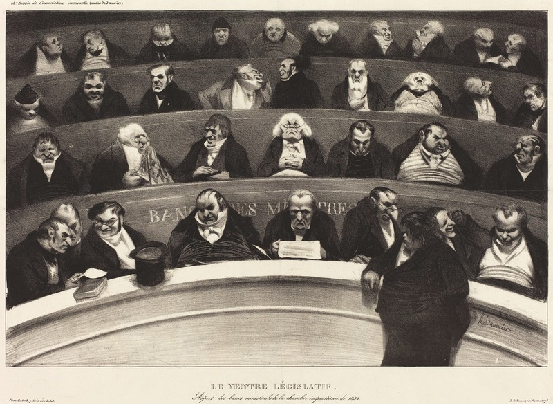 Honoré Daumier caricature assemblée nationale