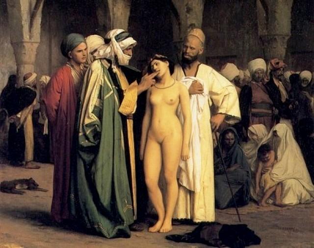Jean-Léon-Gérôme - Le marché aux esclaves - vers1866