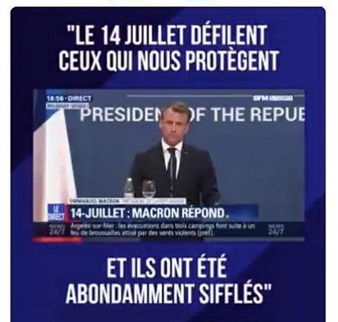 Macron sifflets 14 juillet 2019