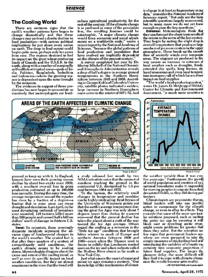 Newsweek 1975 Cooling World