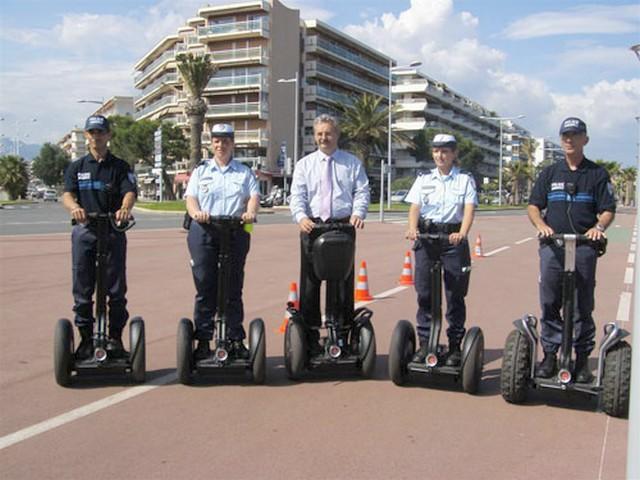 Cagnes-sur-Mer Louis Nègre police municipale.trotinette