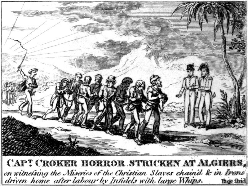 Capitaine britannique horrifié chrétiens esclaves Alger 1815.