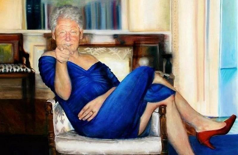 Clinton robe bleue Epstein