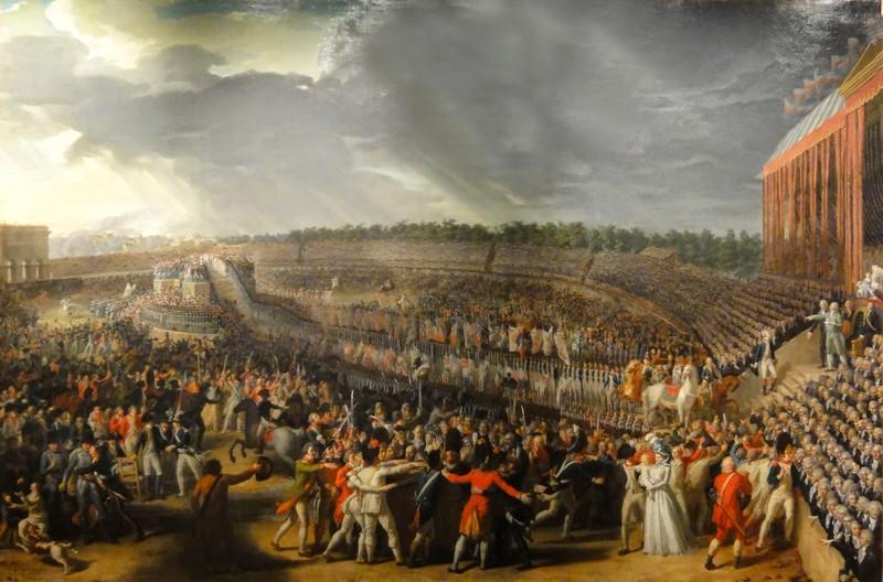 Fête de la Fédération au Champ de Mars, le 14 juillet 1790 - Charles Thévenin - Carnavalet