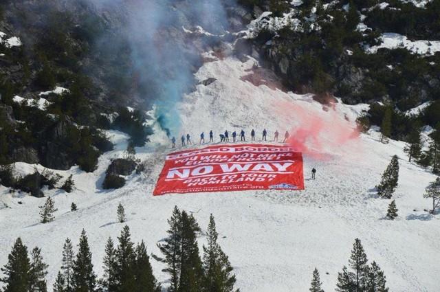 Génération Identitaire Defend Europe Alpes Col Échelle
