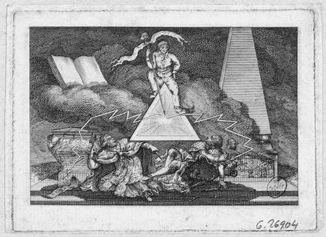 Le Peuple et l'Egalité foudroyant le Trône te l'Autel. Estampe (musée Carnavalet)