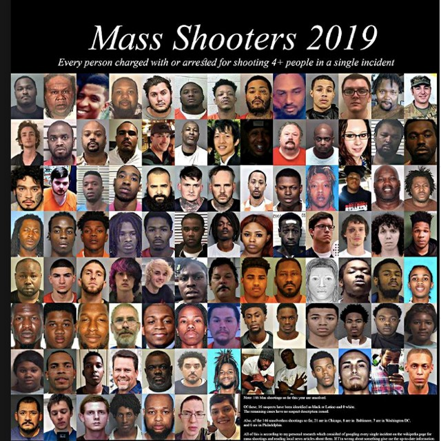 Mass shooters USA 2019