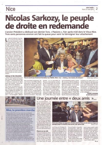 Nice-Matin 27 août 2019 Sarkozy.small