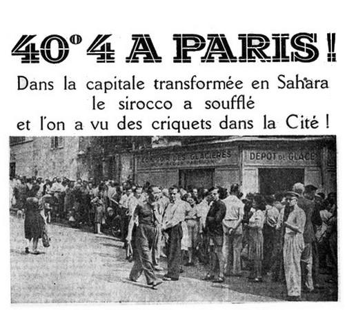 Record température Paris 1947 40°4