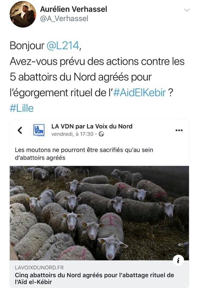 tweet Aïd abattoirs agréés