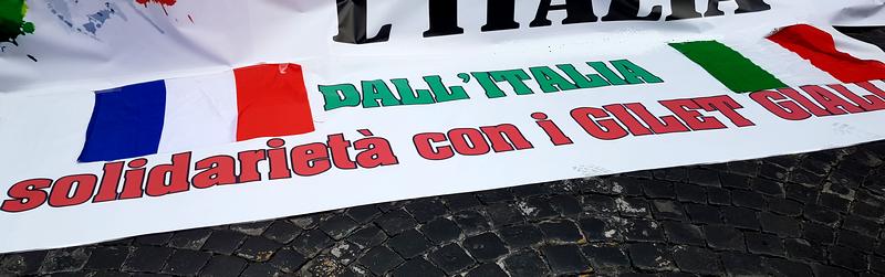 Gilets Jaunes 06 Rome 18 septembre 2019