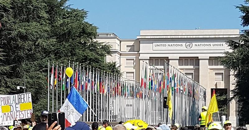 Gilets Jaunes ONU Genève 31 août 2019