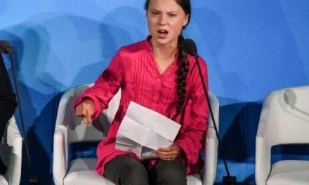 Greta Thunberg associée à ceux qu'elle fustige