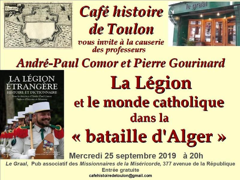 La Légion et le monde catholique dans la Bataille d'Alger - Conférence Café histoire de Toulon - 25 septembre 2019