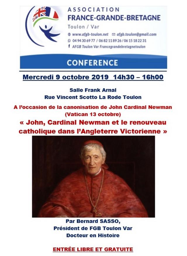 Café Histoire Toulon - Bernard Sasso - John Cardinal Newman