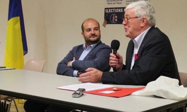 Vence : soutien du maire de Fréjus, David Rachline, à Jean-Pierre Daugreilh