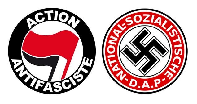 Logo antifa - logo nazi