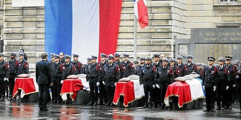 Macron - maître cérémonie funéraire Préfecture police
