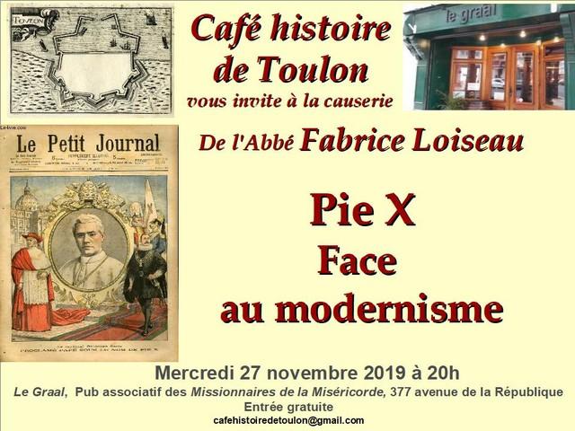 Café Histoire Toulon Abbé Loiseau 27 novembre 2019