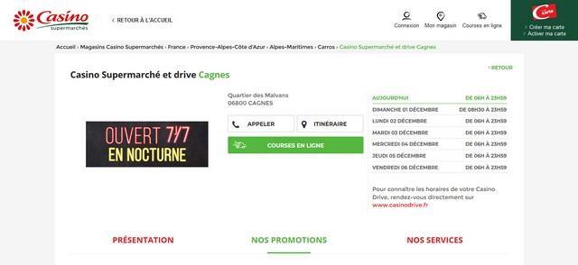 Casino Supermarchés et drive Cagnes-sur-Mer
