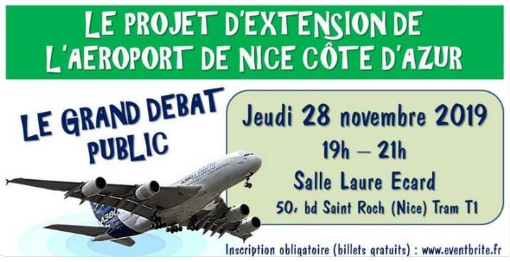 Extension aéroport Nice Débat public 28 novmenre 2019