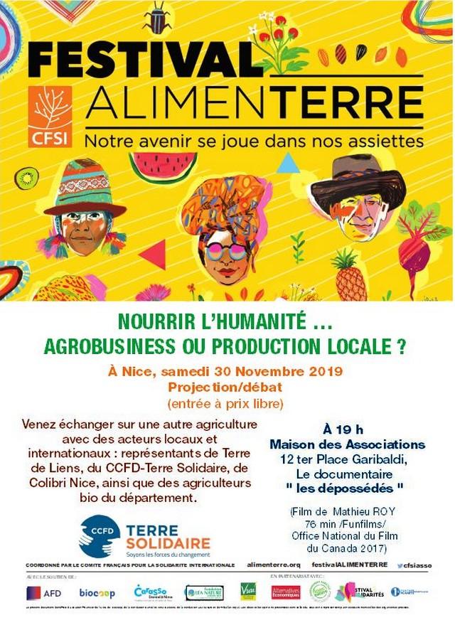 Festival AlimenTerre novembre 2019 - Nice