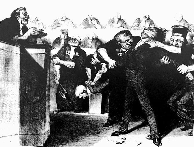 Honoré Daumier - caricature - justice