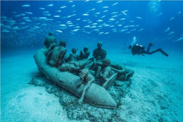 Jason deCaires Taylor Lampedusa raft (Lanzarote, Espagne)