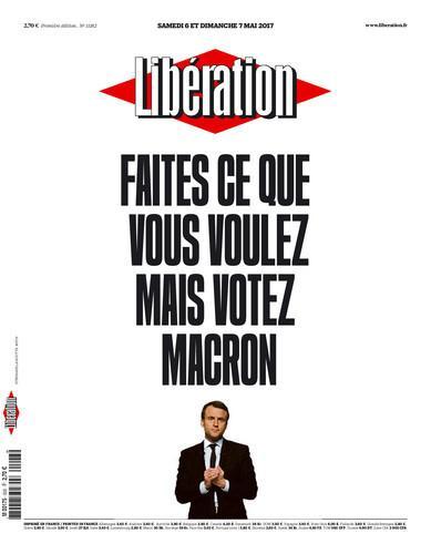 Libération Votez Macron 6-7 mai 2017