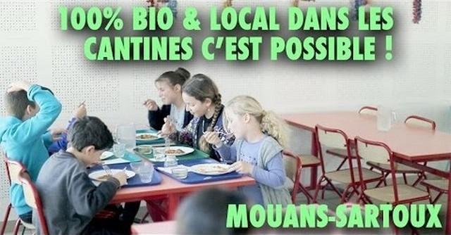 Mouans-Sartoux cantine scolaire