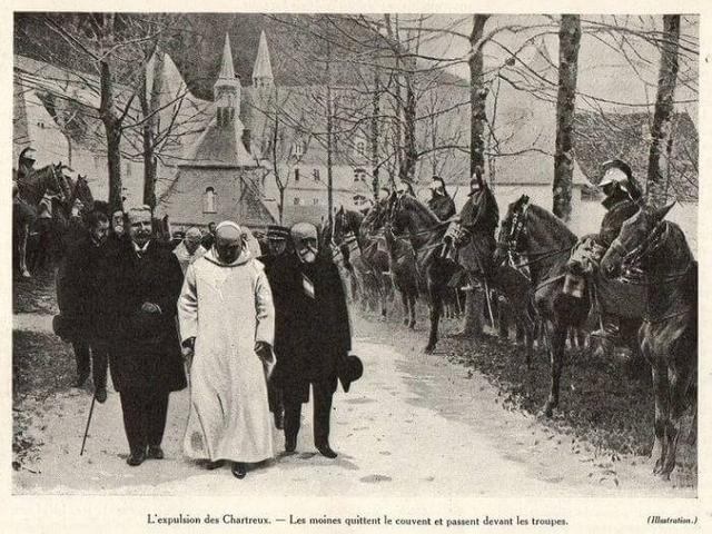 1903 - Expulsion moines Grande Chartreuse
